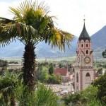 Blick auf Meran in Südtirol