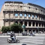 Vespa fahren in Rom